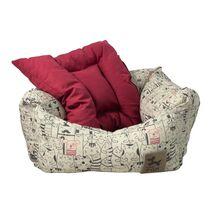 Καναπές Σχέδιο Ζωάκια με Κόκκινο Μαξιλάρι
