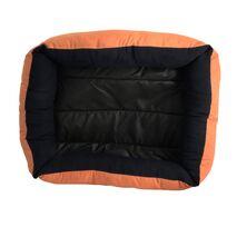 Κρεβατάκι Πουφ Πορτοκαλί 50x40x15cm