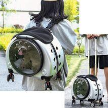 Τσάντα μεταφοράς για Κατοικίδια Ασημί 44x37.5x35cm