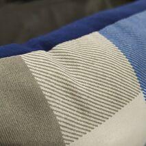 Κρεβατάκι Πουφ Μπλε/Γκρι Καρό