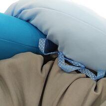 Κρεβατάκι Πουφ Πλεξούδα Σιέλ 80cm