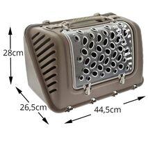 Τσάντα Μεταφοράς MPS P-BAG Καφέ για Σκύλο 44.5x26.5x28cm