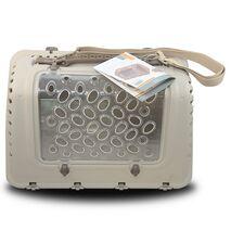 Τσάντα Μεταφοράς MPS P-BAG Κρεμ για Γάτα 44.5x26.5x28cm