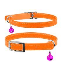 Collar Περιλαίμιο Δερμάτινο Glamour Πορτοκαλί για Γάτες