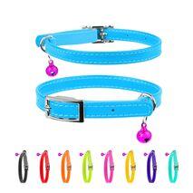 Collar Περιλαίμιο Δερμάτινο Glamour Μπλε για Γάτες