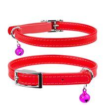 Collar Περιλαίμιο Δερμάτινο Glamour Κόκκινο για Γάτες