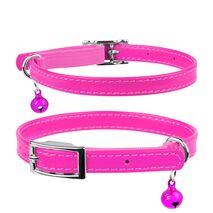 Collar Περιλαίμιο Δερμάτινο Glamour Ροζ για Γάτες