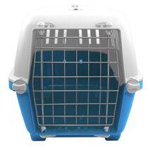 Κλουβί Μεταφοράς Σκύλου MPS Μεταλλικό Πορτάκι Μπλε 48x31.5x33cm