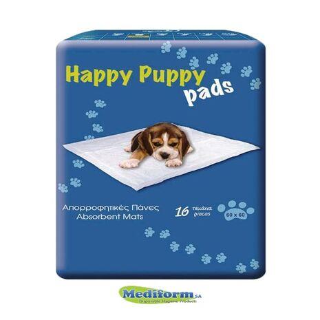 Happy Puppy Πάνες 60 x 60cm x 16pcs