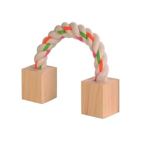 Ξύλινο Παιχνίδι με Σxοινί 3x3x20cm