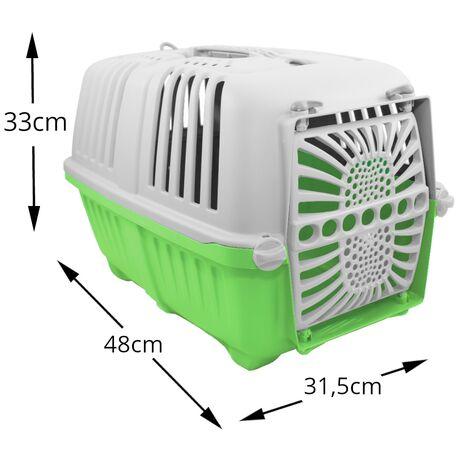 Κλουβί Μεταφοράς MPS Πλαστικό Πορτάκι Πράσινο 48x31,5x33cm