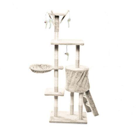 Γατόδεντρο με Σκάλα, Φωλιά και Παιχνίδια Κρεμ