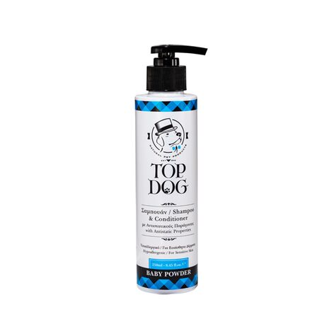 Top Dog Baby Powder Σαμπουάν & Conditioner για Κουτάβια και Υπερήλικα Σκυλιά 250ml