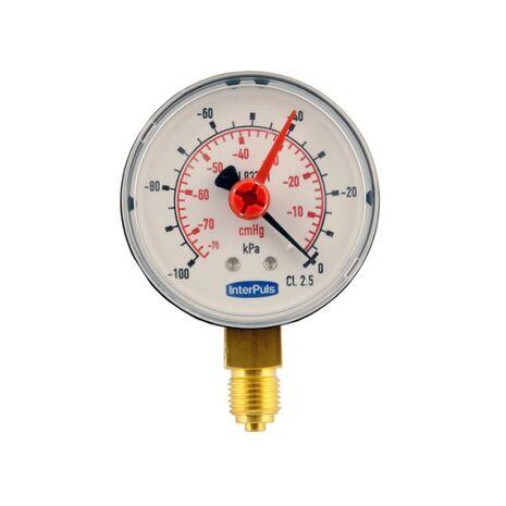 InterPuls Μανόμετρο Κενού Δ. 63MM 1/4''