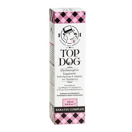 Top Dog Σαμπουάν Keratin Complex για Σκληρά Τριχώματα 250ml