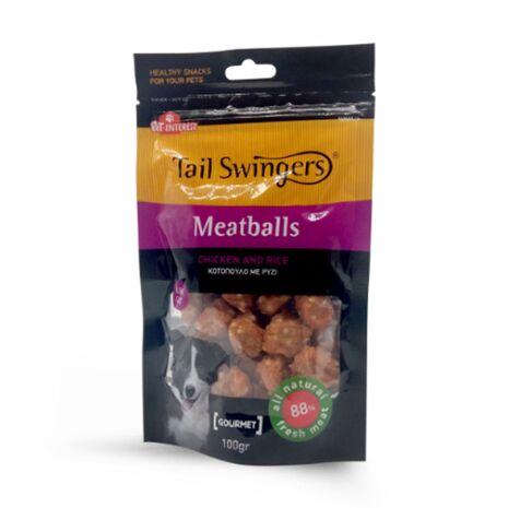 Pet-Interest Tail Swingers Κεφτεδάκια Κοτόπουλο και Ρύζι 100g