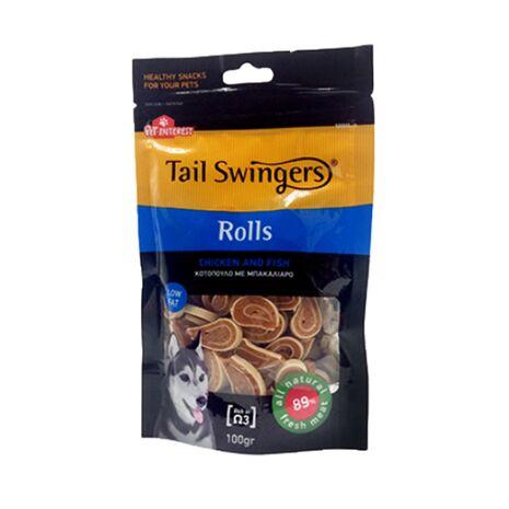 Pet-Interest Tail Swingers Rolls Κοτόπουλο & Μπακαλιάρο 100g