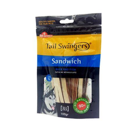 Pet-Interest Tail Swingers Sandwich Πάπια & Μπακαλιάρο 100g