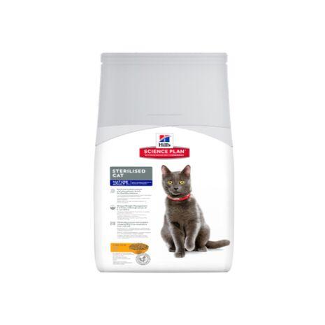 Hill's Mature Adult 7+ Sterilised Cat Science Plan με Κοτόπουλο Ξηρά Τροφή 1.5kg