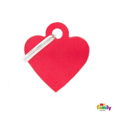 My Family Ταυτότητα Κόκκινη Μικρή σε Σχήμα Καρδιάς