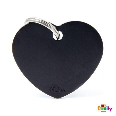 My Family Ταυτότητα Μαύρη Μεγάλη σε Σχήμα Καρδιάς