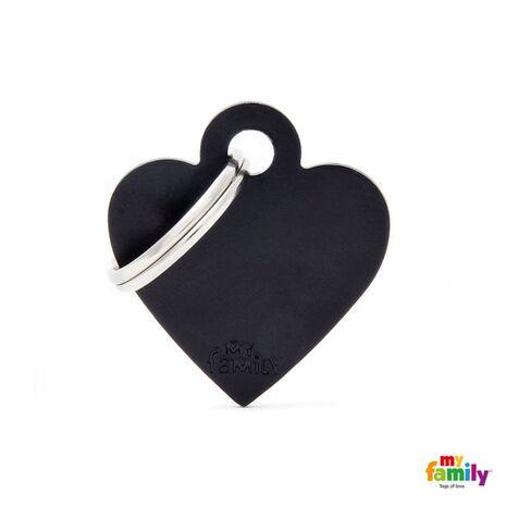 My Family Ταυτότητα Μαύρη Μικρή σε Σχήμα Καρδιάς