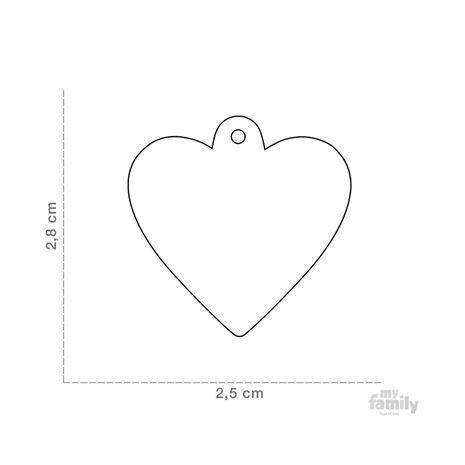My Family Ταυτότητα Χρυσό Χρώμα Μικρή σε Σχήμα Καρδιάς