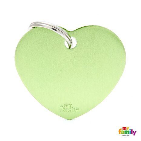 My Family Ταυτότητα Πράσινη Μεγάλη σε Σχήμα Καρδιάς