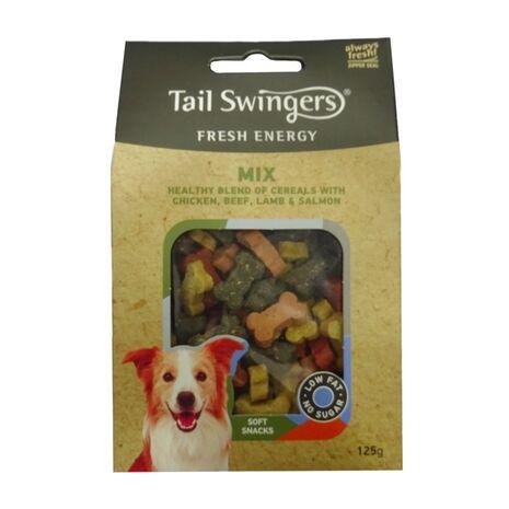 Pet-Interest Tail Swingers Mix | Κοτόπουλο Βοδινό Αρνί Σολομό 125gr