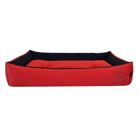 Πουφ Υπερμέγεθος Βαμβακερό με Μαξιλάρι Κόκκινο 100x65x20cm