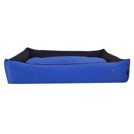 Πουφ Υπερμέγεθος Βαμβακερό με Μαξιλάρι Μπλε 100x65x20cm