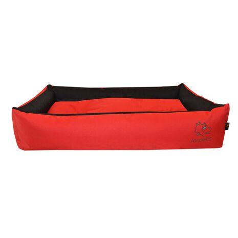 Πουφ Υπερμέγεθος Κόκκινο PVC Ύφασμα 100x60x20cm