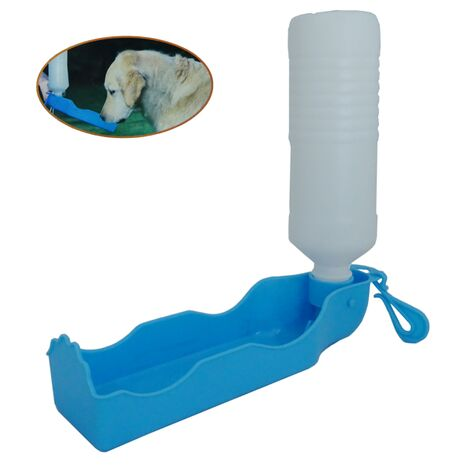 Φορητό Μπουκάλι - Ποτίστρα για Σκύλο Μπλε 500ml