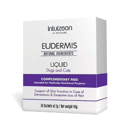 Intuizoon Eudermis Liquid για Δερμάτωση & Απώλεια Τριχώματος σε Σκύλους 20 Φακελάκια