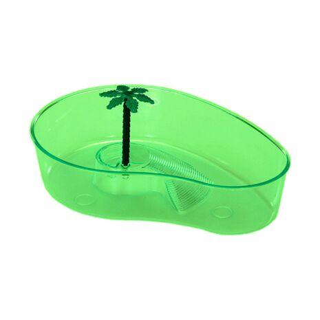 Πλαστική Λεκάνη για Χελώνες Lipari Πράσινη 32x21x7cm