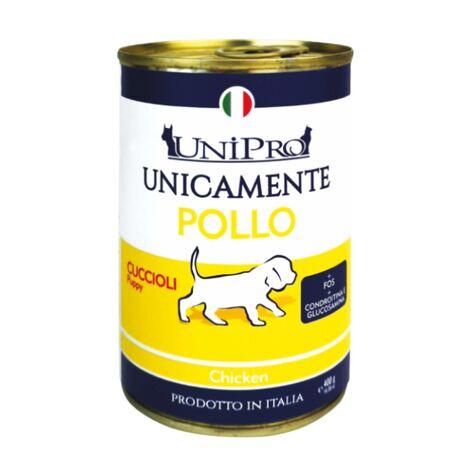 Unipro Κονσέρβα Puppy με Πρωτεΐνη από Κοτόπουλο 400gr