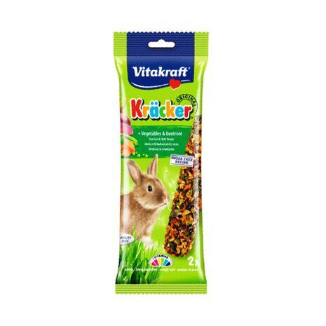 Vitakraft Κράκερ για Κουνέλια με Λαχανικά & Κοκκινογούλια 112gr
