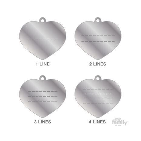 My Family Ταυτότητα Καθρέπτης από Ορείχαλκο Μικρή σε Σχήμα Καρδιάς