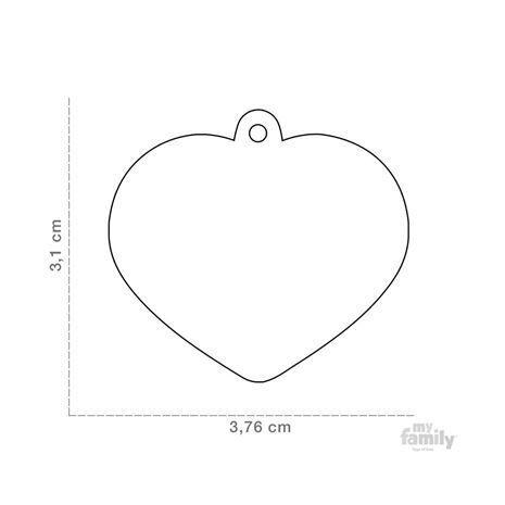My Family Ταυτότητα Καθρέπτης από Ορείχαλκο Μεγάλη σε Σχήμα Καρδιάς