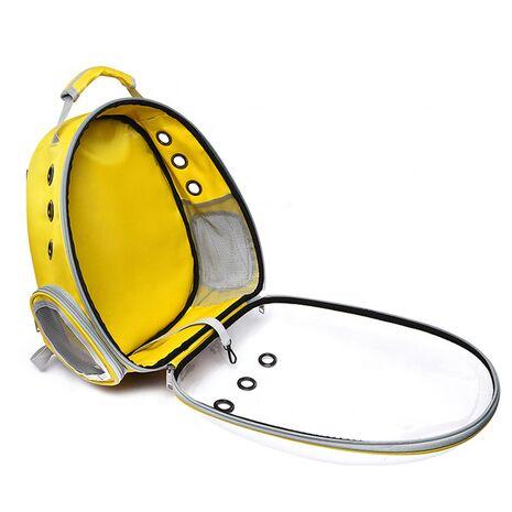 Σακίδιο Πλάτης για Κατοικίδια Κίτρινο 31x28x42cm