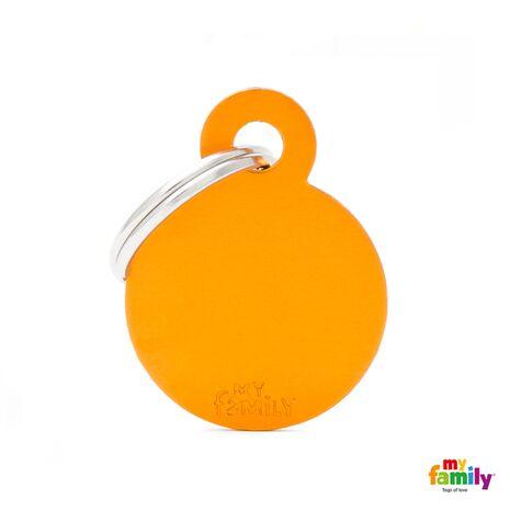 My Family Ταυτότητα Πορτοκαλί Μικρή Κυκλική