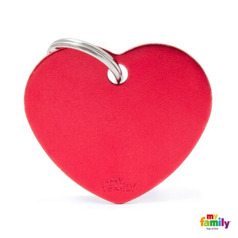 My Family Ταυτότητα Κόκκινη Μεγάλη σε Σχήμα Καρδιάς