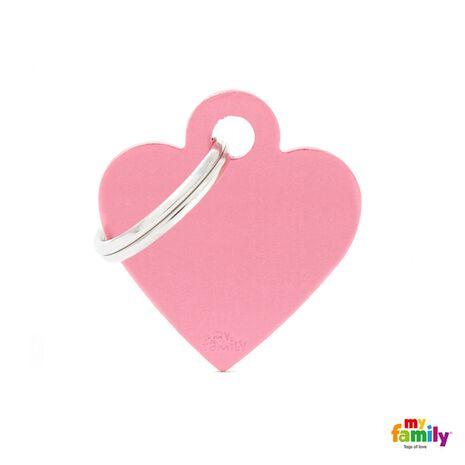 My Family Ταυτότητα Ροζ Μικρή σε Σχήμα Καρδιάς