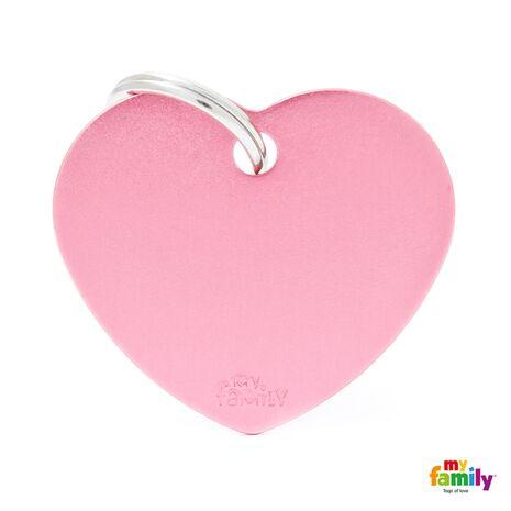 My Family Ταυτότητα Ροζ Μεγάλη σε Σχήμα Καρδιάς
