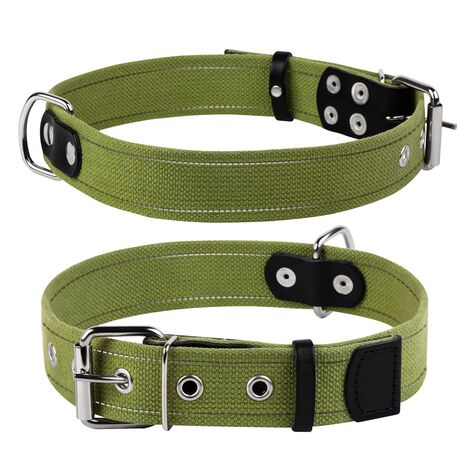 Collar Περιλαίμιο με Ανακλαστικές Γραμμές Πράσινο
