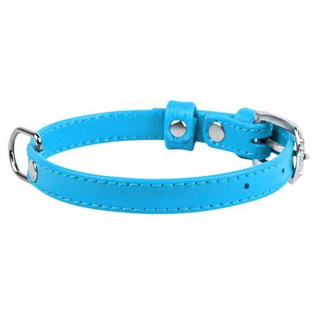 Collar Περιλαίμιο Δερμάτινο Glamour Μπλε