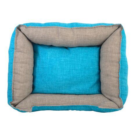 Καναπές Λονέτα Ύφασμα με Μαξιλάρι Γαλάζιο